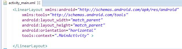 Создание простого интерфейса в android с LinearLayout