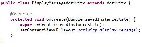 Метод onCreate() новой activity